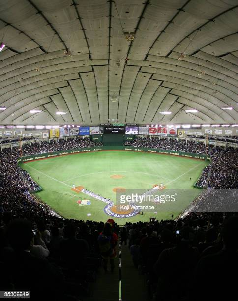 General view of Tokyo Dome during the World Baseball Classic Pool A Tokyo Round match between Japan and South Korea at Tokyo Dome on March 9 2009 in...