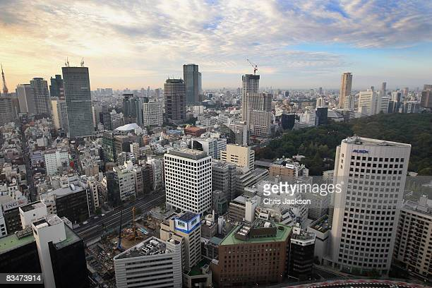 A general view of Tokyo on October 29 2008 in Tokyo Japan Prince Charles Prince of Wales and Camilla Duchess of Cornwall are in Japan as part of a...