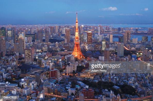 A general view of Tokyo Tower and the surrounding area on February 10 2012 in Tokyo Japan