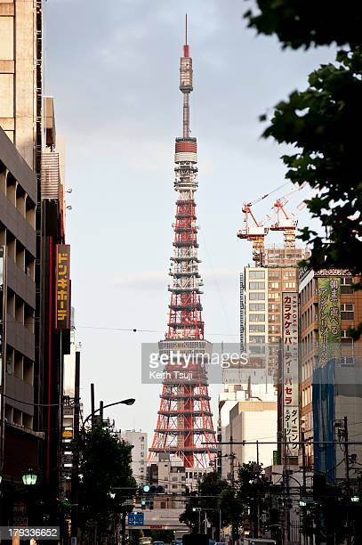 A general view of Tokyo Tower from Roppongi area on September 1 2013 in Tokyo Japan Tokyo Completed in 1958 the tower stands 333 meters tall and...