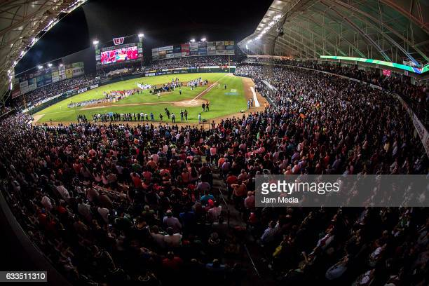 General view of Tomateros Stadium during the Baseball Caribbean Series Culiacan 2017 opening ceremony on February 01 2017 in Culiacan Mexico