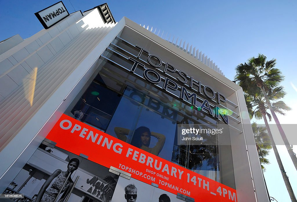 A general view of Topshop Topman at the Grove on February 12, 2013 in Los Angeles, California.