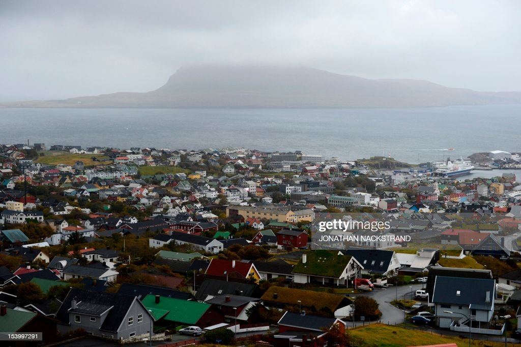 A general view of Torshavn is pictured on October 12, 2012, at the Streymoy Island, Islands the largest of Faroe Islands in this Atlantic ocean archipelago nation. The Faroe Islands are known for its fishing and sheep farming as the main industries.