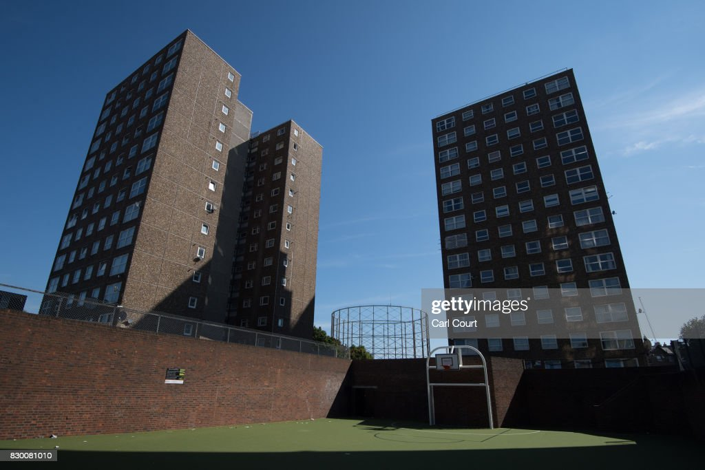 A general view of tower blocks on the Ledbury Estate on August 11, 2017 in London, England. Hundreds of residents of the estate are to be evacuated from four tower blocks over safety fears after a survey, ordered after the Grenfell Tower fire, found cracks in the walls leaving it vulnerable to collapse in the event of a gas explosion.