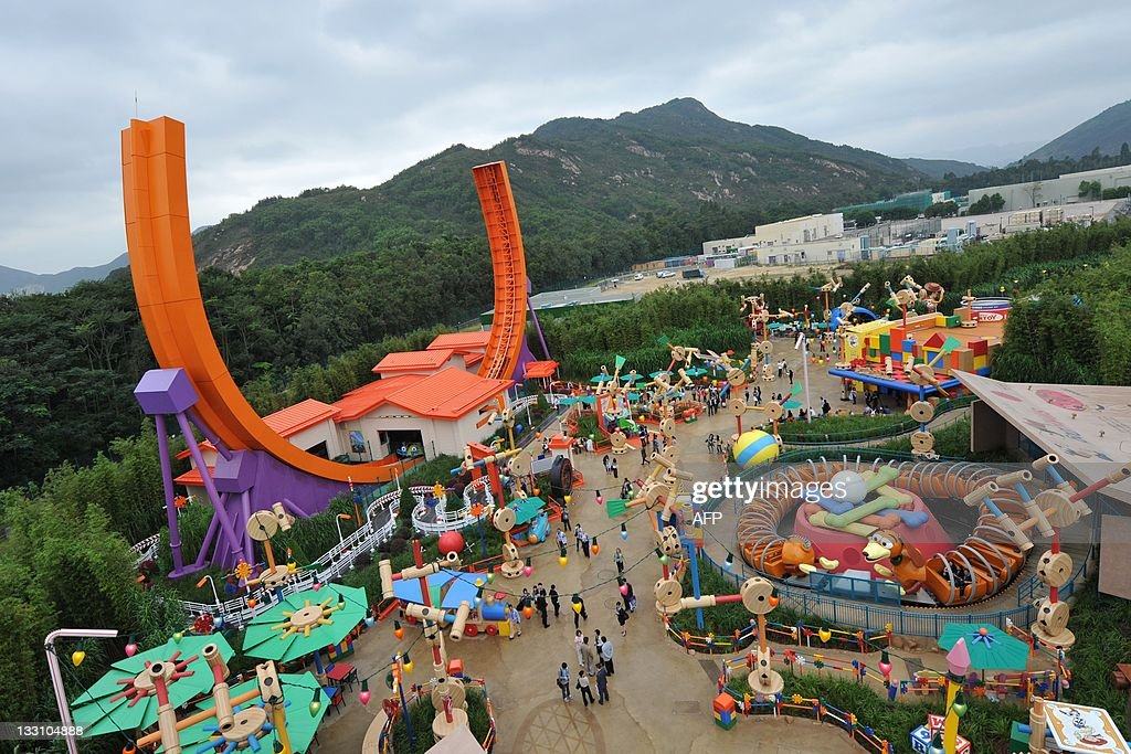 A general view of Toy Story Land at Hong Kong's Disneyland on November 17, 2011. The attraction is the first stage of the resort's expansion.