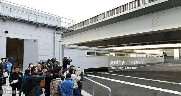A general view of Toyosu Market is seen during a media tour on November 30 2016 in Tokyo Japan Some new signs and equipment have been set up but the...