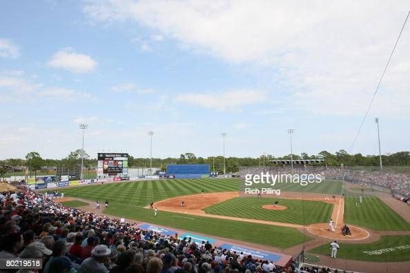 A general view of Tradition Field during the game between the New York Mets and the Boston Red Sox at Tradition Field in Port St Lucie Florida on...