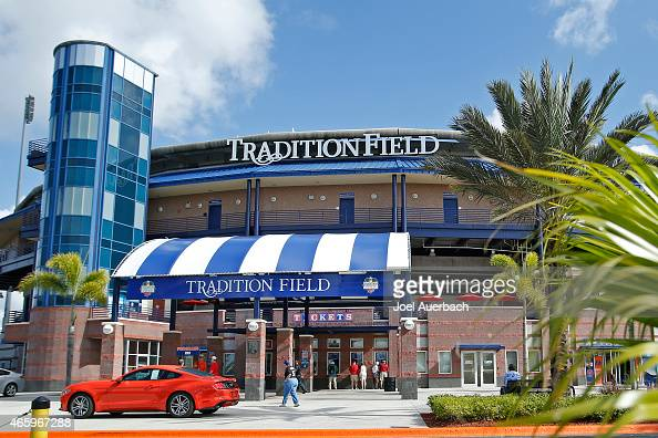 A general view of Tradition Field spring training home of the New York Mets prior to their game against the Washington Nationals on March 12 2015 in...