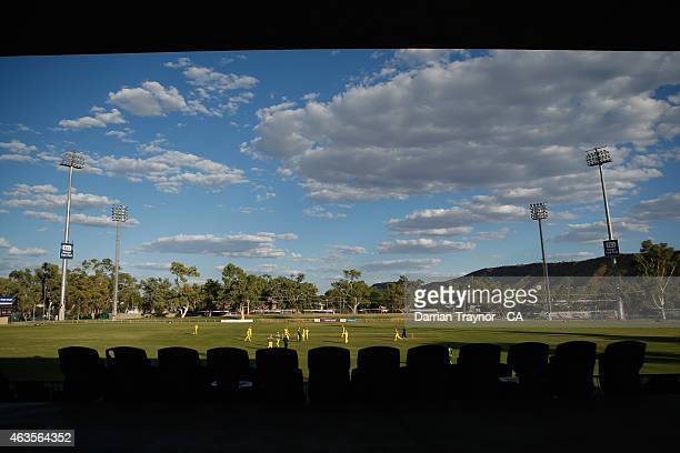 A general view of Traeger Park on February 14 2015 in Alice Springs Australia