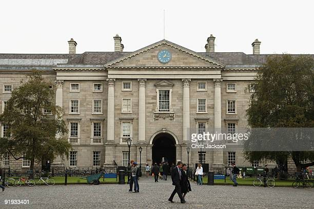 A general view of Trinity College on October 15 2009 in Dublin Ireland Dublin is Ireland's capital city located near the midpoint of Ireland's east...