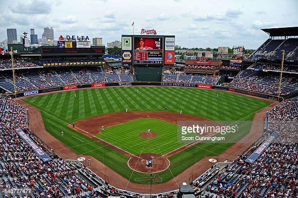 A general view of Turner Field during the game between the Atlanta Braves and the Philadelphia Phillies on May 3 2012 in Atlanta Georgia