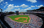 A general view of Turner Field during the game between the Atlanta Braves and the Milwaukee Brewers on May 24 2015 in Atlanta Georgia
