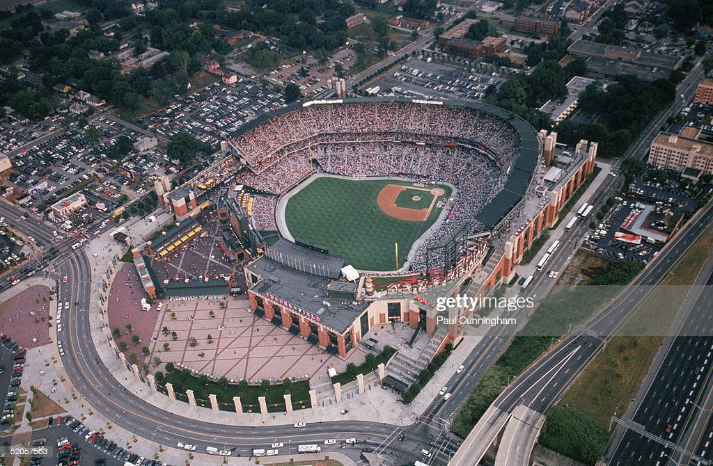 A general view of Turner Field taken during the 2000 AllStar Game on July 10 2000 in Atlanta Georgia