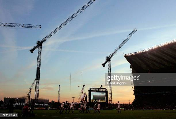 A general view of Twickenham is seen during the Investec Challenge match between England and New Zealand at Twickenham Stadium on November 19 2005 in...