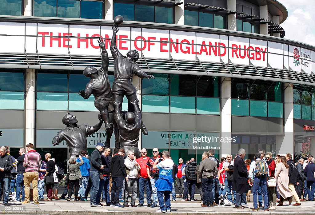 A general view of Twickenham Stadium ahead of the Babcock Trophy rugby union match between The British Army and the Royal Navy played in Twickenham Stadium, on April 30, 2016 in Twickenham, England.