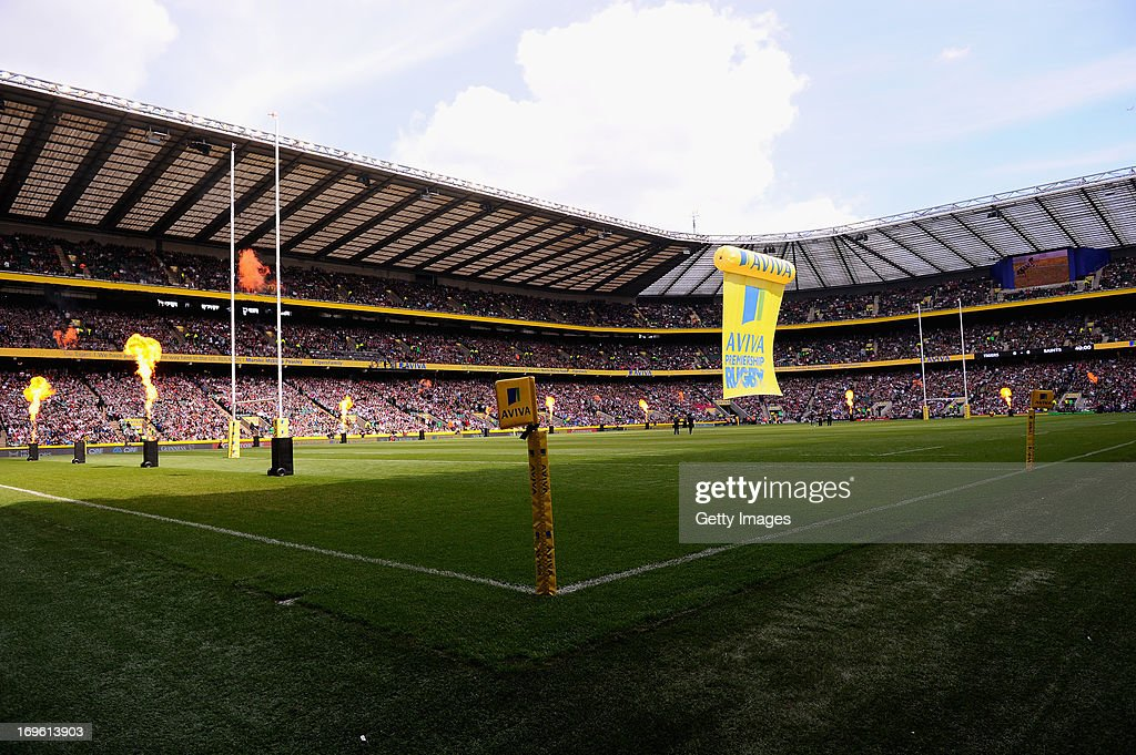 A general view of Twickenham stadium during the Aviva Premiership Final between Leicester Tigers and Northampton Saints at Twickenham Stadium on May 25, 2013 in London, England.