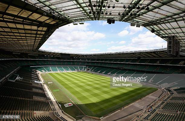 A general view of Twickenham Stadium on July 6 2015 in London England