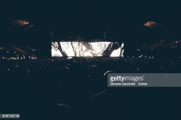 A general view of U2 concert at Stadio Olimpico on July 15 2017 in Rome Italy