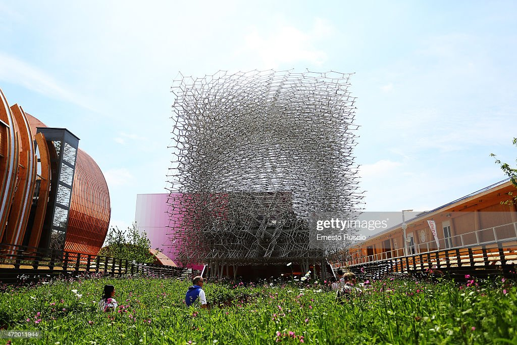 General view of UK pavilion during the Milano EXPO 2015 at Fiera Milano Rho on May 2 2015 in Milan Italy
