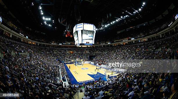 A general view of Ulker Sports Arena during the Turkish Airlines Euroleague Regular Season date 3 game between Fenerbahce Istanbul v Real Madrid at...