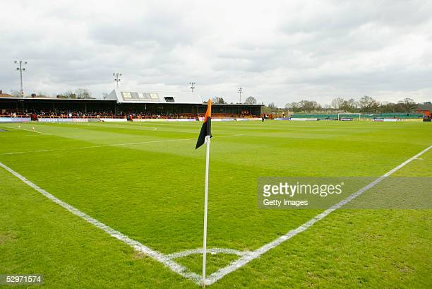 A general view of Underhill prior to the Nationwide Conference match between Barnet and Halifax Town at the Underhill Stadium on April 9 2005 in...