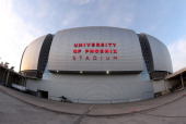 General view of University of Phoenix Stadium before the game betwen USA and Ireland on December 1 2012 in Glendale Arizona