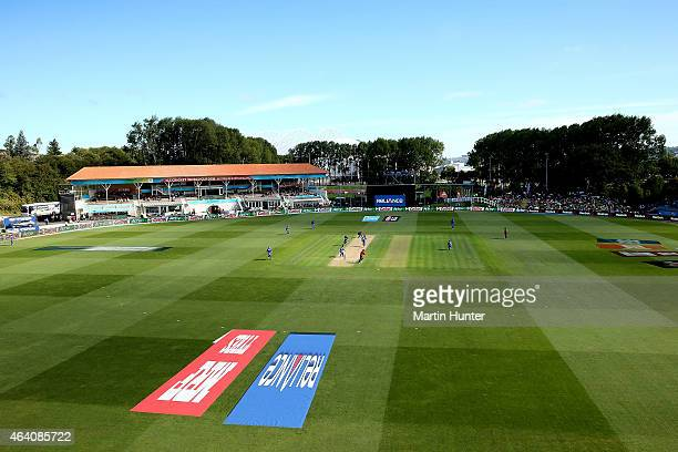 General view of University Oval during the 2015 ICC Cricket World Cup match between Sri Lanka and Afghanistan at University Oval on February 22 2015...