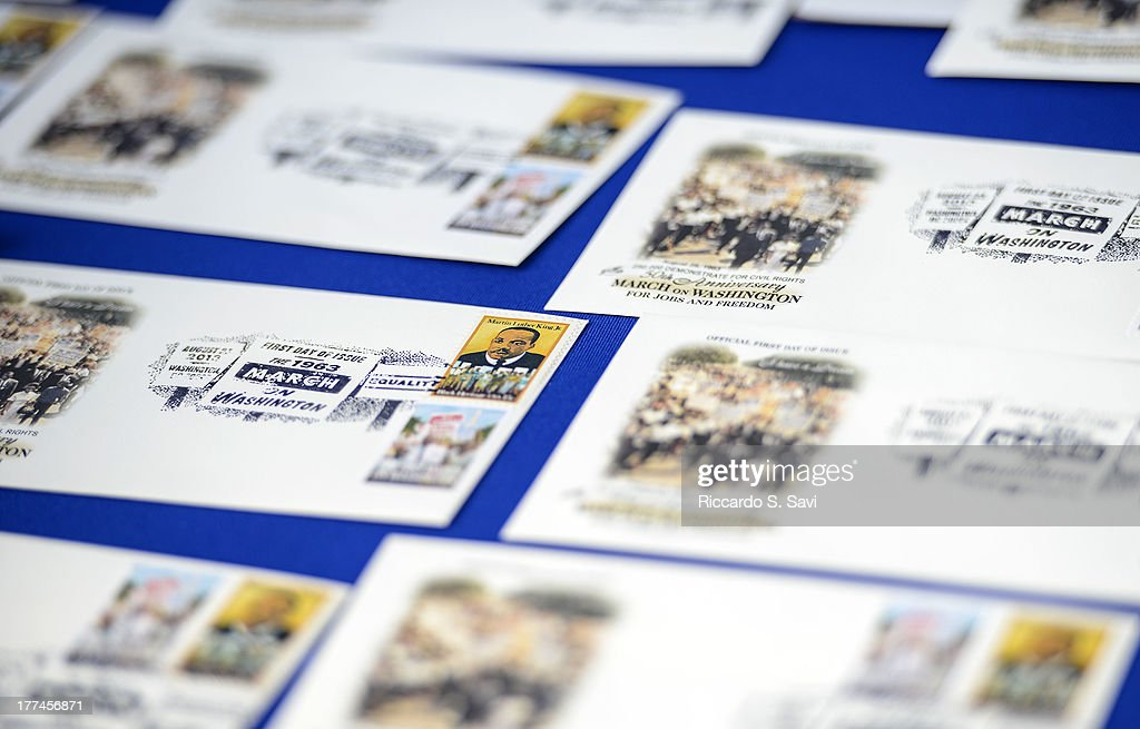 General view of U.S. Postal Service Unveiling of the 1963 March On Washington Stamp on August 23, 2013 in Washington, United States.