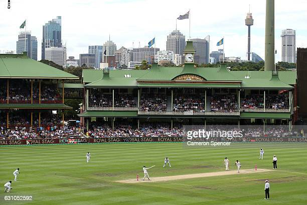 A general view of Usman Khawaja of Australia batting during day four of the Third Test match between Australia and Pakistan at Sydney Cricket Ground...