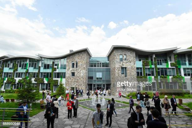 General view of UWC Dilijan during the Galvanizing the World Break Out Sessions at the Aurora Dialogues a series of discussions between leading...