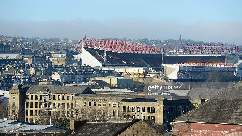 General view of Valley Parade Stadium on January 9, 2013 in Bradford, United Kingdom.
