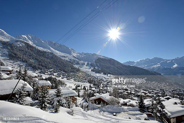 A general view of Verbier on February 10 2013 in Verbier Switzerland