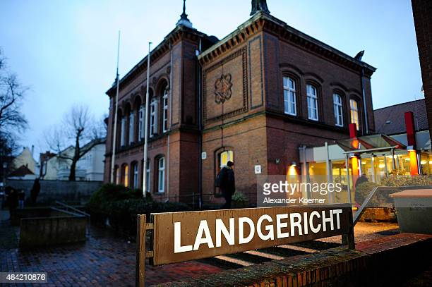 General view of Verden courthouse prior the arrival of Former Bundestag parliamentarian Sebastian Edathy for the first day of his trial over...