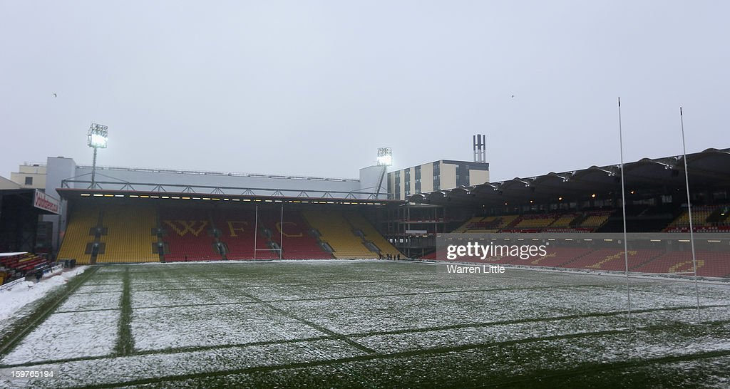A general view of Vicarge Road after the Heineken Cup match between Saracens and Edinburgh Rugby the last time Saracens will play at Vicarage Road on January 20, 2013 in Watford, England.