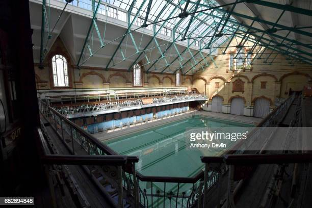 General view of Victoria Baths which are opening today for the first time in over 20 years for a one off public swimming event on May 14 2017 in...