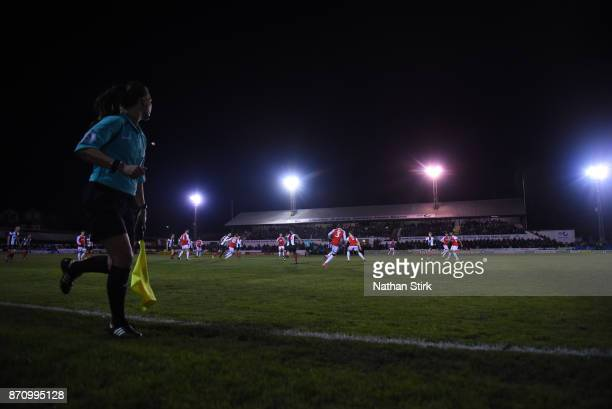 General view of Victory Park before The Emirates FA Cup First Round match between Chorley and Fleetwood Town at Victory Park on November 6 2017 in...