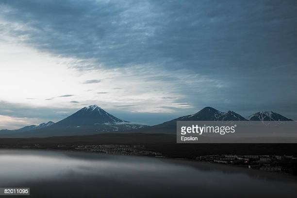A general view of Vilyuchinskaya sopka volcano on August 19 2007 in Kamchatka Russia Kamchatka has the highest density of volcanos and associated...