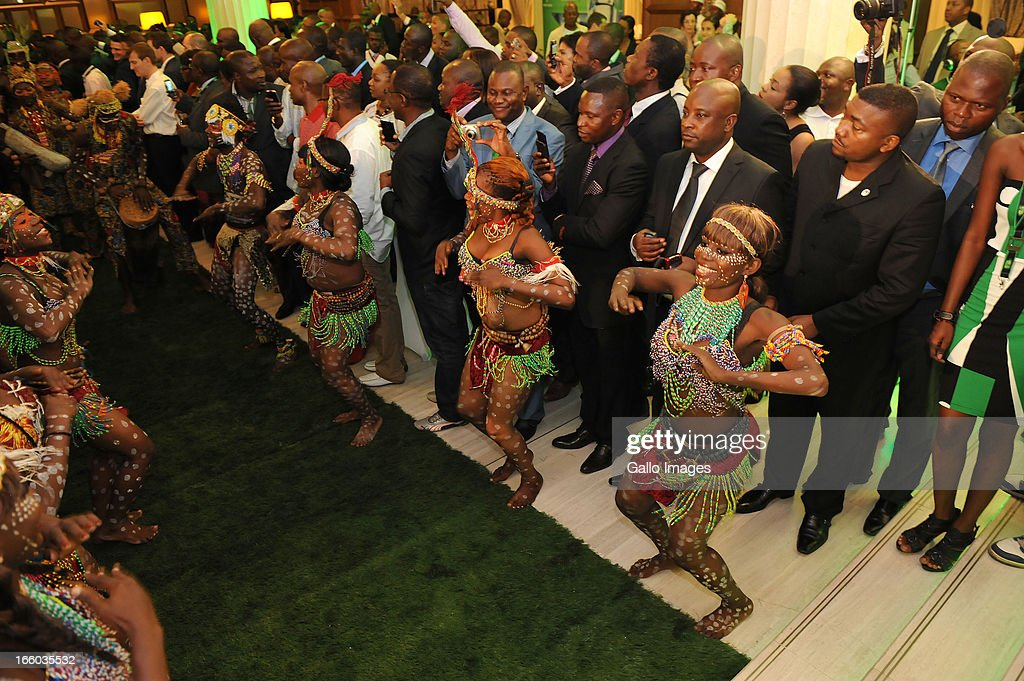 General view of VIP Party and guests during the UEFA Champions League Trophy Tour at Fleuve Congo Hotel on April 5, 2013 in Kinshasa, Democratic Republic Of Congo.