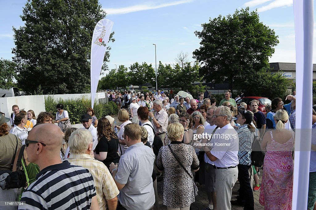 A general view of visitors during the 'Rote Rosen Fan-Tag 2013' on July 28, 2013 in Luneburg, Germany. More than 3500 fans of the daily television telenovela 'Rote Rosen' came to see the Studios and to meet their favorite actor.