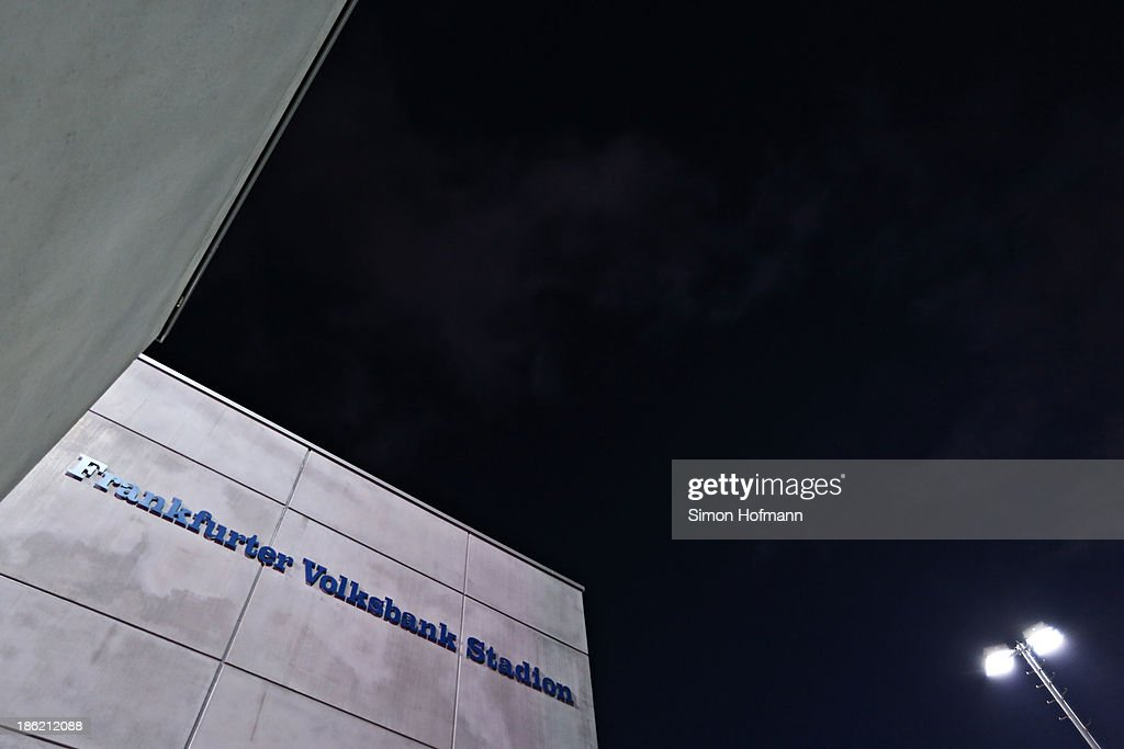 A general view of Volksbank Stadion prior to a Germany training session at Volksbank Stadion on October 29, 2013 in Frankfurt am Main, Germany.