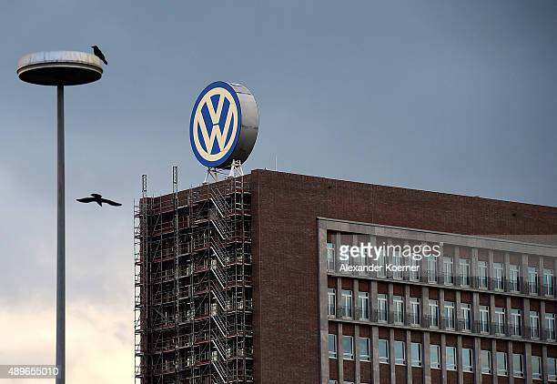 General view of Volkswagen Group headquarters during sunset on September 23 2015 in Wolfsburg Germany Volkswagen CEO Martin Winterkorn has today...