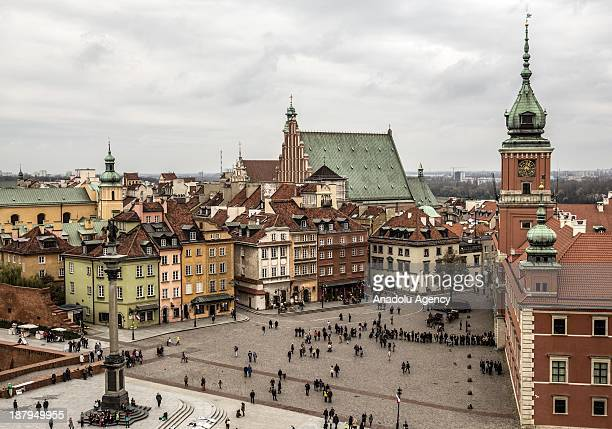 A general view of Warsaw Old Town the oldest historic place of the Polish capital city on November 9 2013 in Warsaw Poland The historic center which...