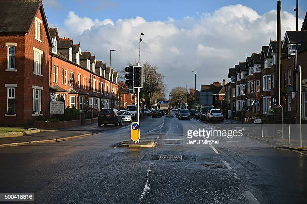 A general view of Warwick road as people start to return to their properties after Storm Desmond caused flooding on December 8 2015 in Carlisle...