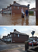 COMPOSITE IMAGE In this composite a comparison has been made between Warwick road photographed on December 7 2015 and on December 8 2015 CARLISLE...