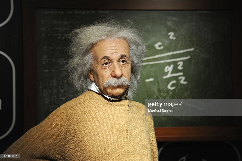 A general view of wax figure of Albert Einstein is seen at Madame Tussauds Vienna on September 2, 2013 in Vienna, Austria.