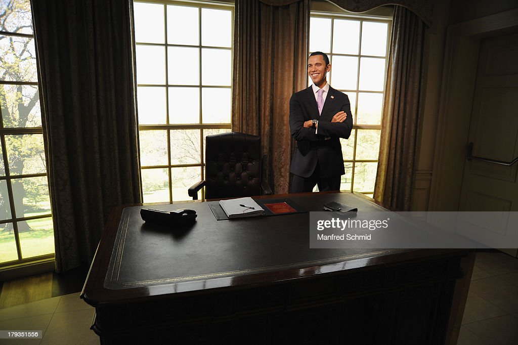 A general view of wax figure of Barack Obama is seen at Madame Tussauds Vienna on September 2, 2013 in Vienna, Austria.