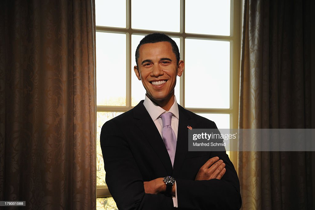 A general view of wax figure of <a gi-track='captionPersonalityLinkClicked' href=/galleries/search?phrase=Barack+Obama&family=editorial&specificpeople=203260 ng-click='$event.stopPropagation()'>Barack Obama</a> is seen at Madame Tussauds Vienna on September 2, 2013 in Vienna, Austria.