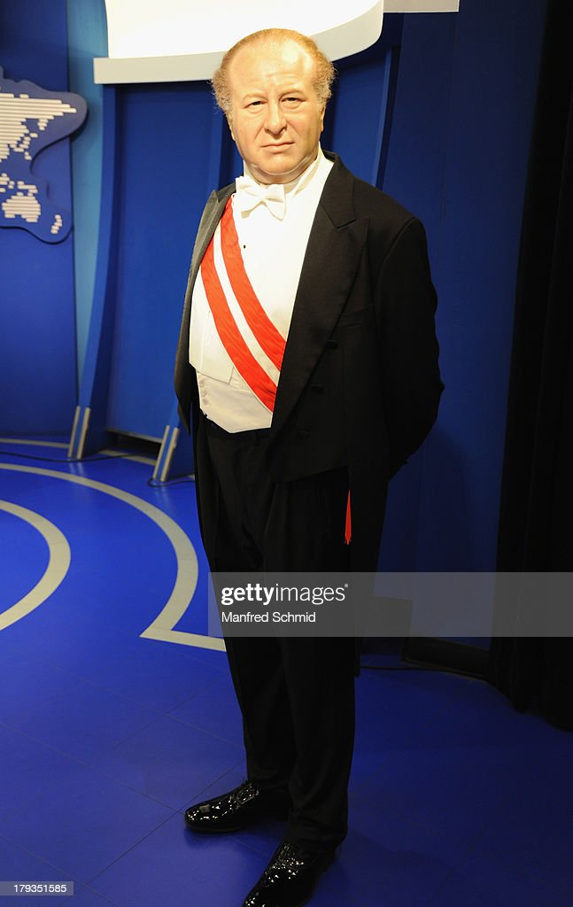 A general view of wax figure of Bruno Kreisky is seen at Madame Tussauds Vienna on September 2, 2013 in Vienna, Austria.