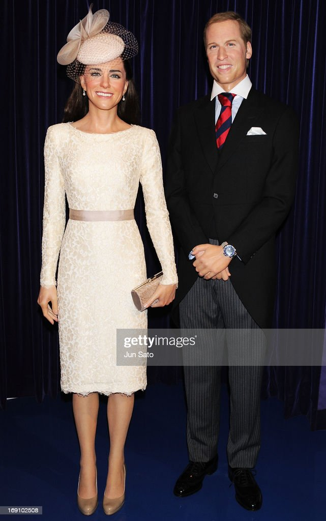 A general view of wax figure of <a gi-track='captionPersonalityLinkClicked' href=/galleries/search?phrase=Catherine+-+Duchess+of+Cambridge&family=editorial&specificpeople=542588 ng-click='$event.stopPropagation()'>Catherine</a>, Duchess of Cambridge and <a gi-track='captionPersonalityLinkClicked' href=/galleries/search?phrase=Prince+William&family=editorial&specificpeople=178205 ng-click='$event.stopPropagation()'>Prince William</a>, Duke of Cambridge are seen at Madame Tussauds on May 20, 2013 in Tokyo, Japan.
