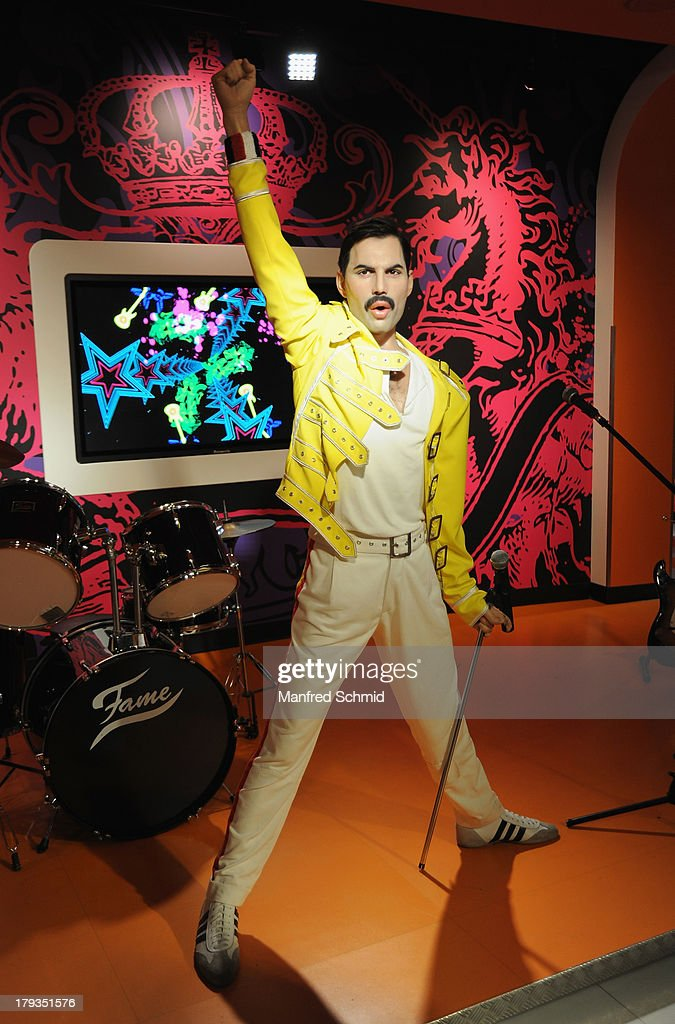 A general view of wax figure of Freddy Mercury is seen at Madame Tussauds Vienna on September 2, 2013 in Vienna, Austria.